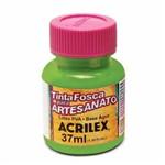 Tinta Fosca para Artesanato 37ml Acrilex Verde Folha 510