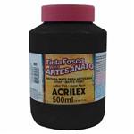 Tinta Fosca para Artesanato Acrilex 500 Ml Preto 520