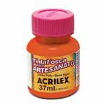 Tinta Fosca para Artesanato Acrilex 37 Ml Laranja Escuro 832
