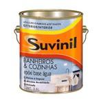Ficha técnica e caractérísticas do produto Tinta para Banheiro e Cozinha Acetinada 3,6 Litros Branco Suvinil