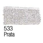 Ficha técnica e caractérísticas do produto Tinta para Tecido Acrilex Metalica -533-Prata