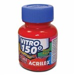 Tinta Vitro 150º Acrilex 37ml Vermelho Escarlate 508