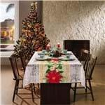 Toalha de Mesa Lepper Natal Floral Retangular 10 Lugares - Lepper Home