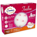 Ficha técnica e caractérísticas do produto Toalha Fralda Cremer Luxo Estampada Menina 70x120 Cm C/ 3 Un