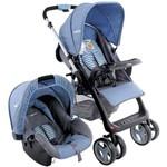 Travel System Carrinho de Bebê + Bebê Conforto Zap Azul Kiddo