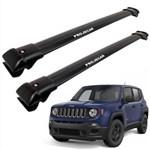 Travessa de Teto Jeep Renegade de Alumínio Larga Preta - Projecar