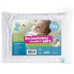 Ficha técnica e caractérísticas do produto Travesseiro Anti Sufocante Infantil Visco Baby com Capa Extra 30x40cm - Fibrasca