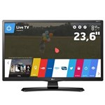 "Ficha técnica e caractérísticas do produto TV Monitor Smart LED 23,6"" HD LG 24MT49S-PS com Wi-Fi, WebOS, Conversor Digital Integrado, Screen Share, Cinema Mode, HDMI e USB"