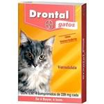 Ficha técnica e caractérísticas do produto Vermífugo Drontal Gatos - 4/Comprimidos - Bayer