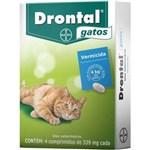 Ficha técnica e caractérísticas do produto Vermífugo Drontal Gatos 339mg Bayer - Cx 4 Comprimidos