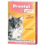 Ficha técnica e caractérísticas do produto VERMÍFUGO Drontal Gatos ATÉ 4KG com 4 Comprimidos 339MG Cada