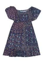 Ficha técnica e caractérísticas do produto Vestido Bisi Estampado Azul-Marinho