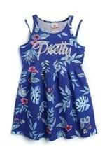 Ficha técnica e caractérísticas do produto Vestido Brandili Menina Estampa Azul