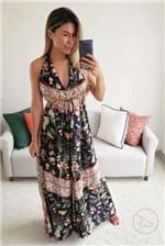 Ficha técnica e caractérísticas do produto Vestido Dress To Longo Estampa Flô - Estampa