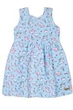 Ficha técnica e caractérísticas do produto Vestido Kids Estampado Edvertido Azul