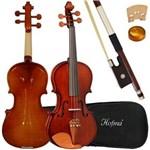 Ficha técnica e caractérísticas do produto Violino Acústico Infantil HVE221 1/2 Hofma com Estojo Luxo