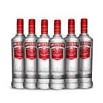 Ficha técnica e caractérísticas do produto Vodka Smirnoff Red 6x 600ml