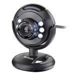 Ficha técnica e caractérísticas do produto Webcam Plugeplay 16mp Nightvision Mic Usb Preto Wc045 Multilaser