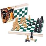 Ficha técnica e caractérísticas do produto Xadrez com Peças de Madeira